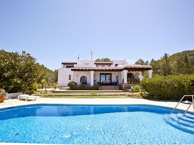 San Agustin villa rental - The house from the swimingpool. http://www.villamarlis.com