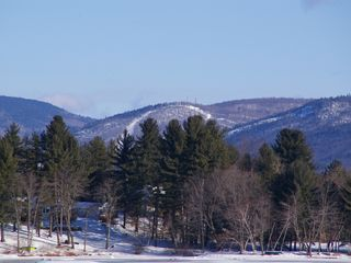 Conway chalet photo - Cranmore Mt. is minutes away. View from living room.