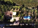 Montespertoli villa photo - Aerial view of the villa + swimming pool