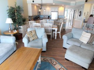 Belmont Towers Ocean City condo photo - Living Room through dining room and kitchen