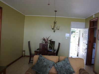 View of Dining room from Living Room
