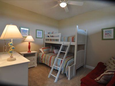 2nd Floor Kids' Bunk Room with Trapeze Bed (Twin over Full) and Futon