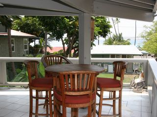 Keauhou house photo - kitchen deck, view of ocean