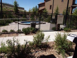 Bear Hollow Village condo photo - The hot tub just a few feet away after those long cold ski days!