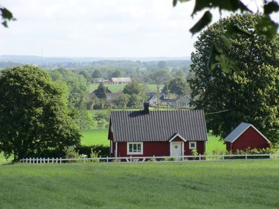 Charming Swedish red house at country near Båstad and the sea
