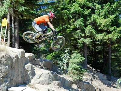 Great Mountain Biking on Whistler Mountain in Whistler, British Columbia