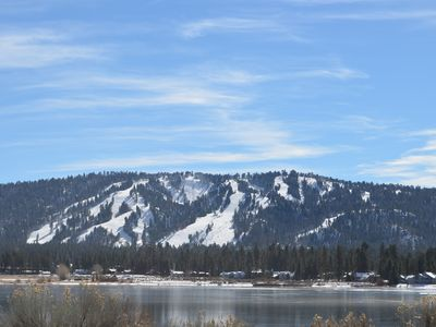 Snow Summit Ski Resort from across Big Bear Lake. Note: not cottage view.