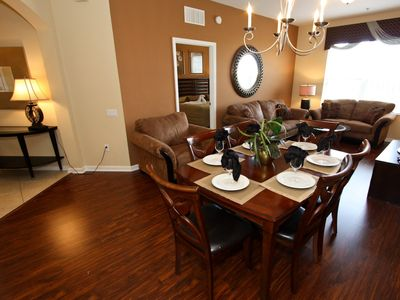 Open living and dining areas