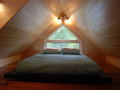 one of two loft bedrooms, each with queen bed