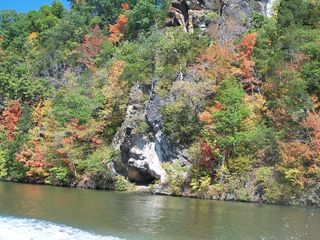 Upper lake in October with cliffs - Claytor Lake house vacation rental photo