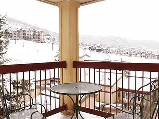 Steamboat Springs condo photo - Balcony with a Great Ski Slope View