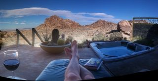 Joshua Tree house photo - Have a soak in the day or night in our jacuzzi