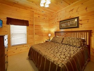 "Pigeon Forge cabin photo - Bedroom 5 Downstairs w/23""LCD/DVD & Full Bathroom"