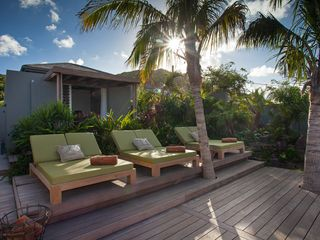 St Barthelemy villa photo - Villa Imagine - Cushioned Sun Loungers