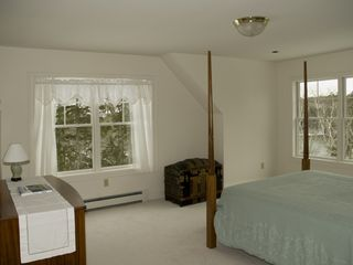 Boothbay Harbor house photo - Master Bedroom with Water View