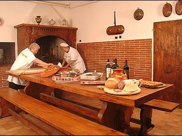 Old Kitchen with wood oven pizza