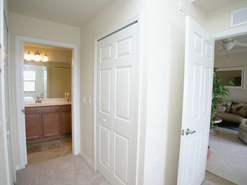 Two walk in closet in Master Suite. Master bath Walk in Shower