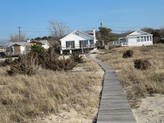Peconic house photo - Private walk to beach. Quiet friendly neighborhood, yet each home feels secluded