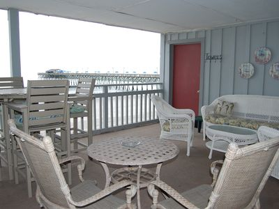 Balcony oceanfront patio