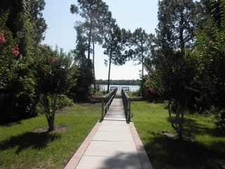 Esprit Estates villa photo - Walkway out to Fishing Pier on Lake Davenport from Picnic Area