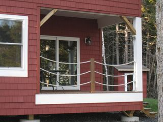St. George cabin photo - A nice porch to Drink your coffee and watch the tides.