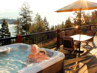 Enjoy soaking in the hot tub after a hard day of skiing or hiking