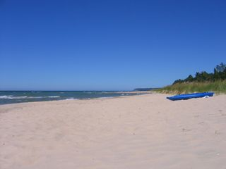 Manistee cottage photo - Miles of uncrowded beach
