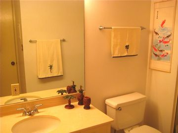 Condo features two bathrooms.