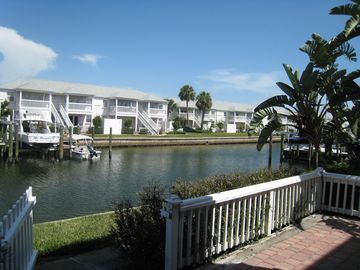 St Petersburg condo rental - Canal view from the patio