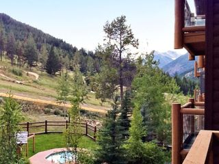 Panorama house photo - View of the Jacuzzi and Mountainside from the Studio Units at the Club Intrawest