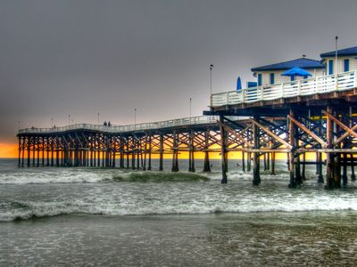 Crystal Pier is a nice walk from your home