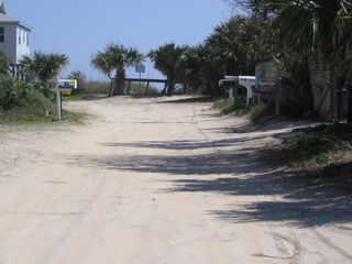 St. Augustine cottage photo - our road ends at the dunes