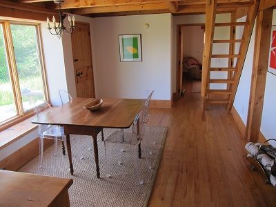 Craftsbury cottage rental - Eating Area