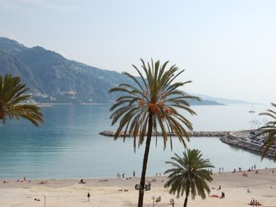 Menton apartment rental - Sablettes beach view