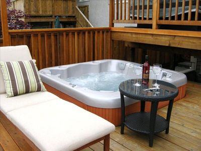 Soak your cares away in our hot tub