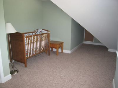 Family Friendly, Crib provided plus a futon and a twin added for kids to sleep
