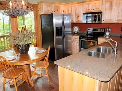 Hiawassee chalet rental - Kitchen and Dining Area