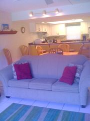 Cocoa Beach condo photo - Cocoa Beach Condo Rental - Large Living Area with large screen-HD TV with Cable
