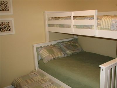 Kids will love the brand new 'bunk bed' room! Comfortably sleeps 4.