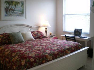 Master bedroom with king size bed and en suite bath