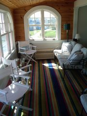 Kennebunk Beach house photo - Sun Room - watch the Lobster Boats in the morning or take a Nap in the afternoon