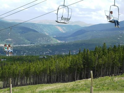 The chairlift at Peak 8 runs in the summer as well as winter