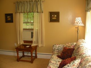 Lake George house photo - Notice the hand painted lamp shade.