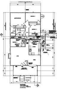 Main Level Floor Plan as renovated / built in 2011/ 2012.