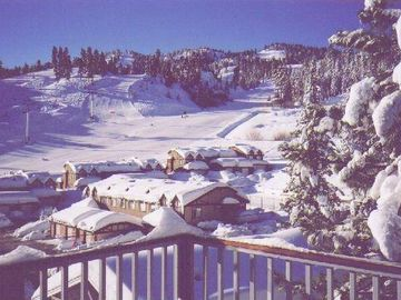 Bear Mountain condo rental - Your winter view from your deck.