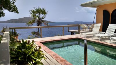Paradise, directly on the water! Pool, two dining tables, all with this view!
