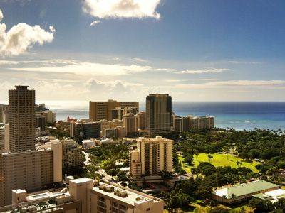 Waikiki condo rental - Wonderful views of Waikiki and the ocean!