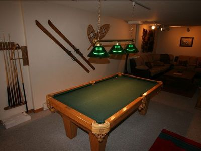 Pool Table & Downstairs TV Area
