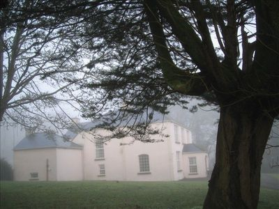Danesfort House on a misty winter morning