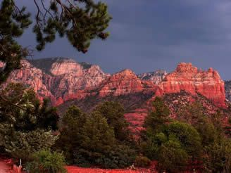 Sedona's gorgeous red rocks.